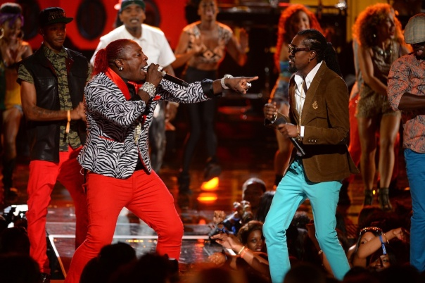 Elephant Man and Beenie Man perform ay 2013 BET Awards